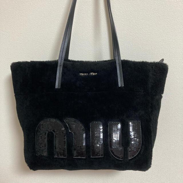 miumiu(ミュウミュウ)のmiumiu シープファー トートバッグ レディースのバッグ(トートバッグ)の商品写真