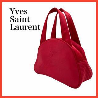 サンローラン(Saint Laurent)の⭐️良品‼️⭐️イブサンローラン ナイロンエンボスロゴ ハンドバッグ 赤(ハンドバッグ)