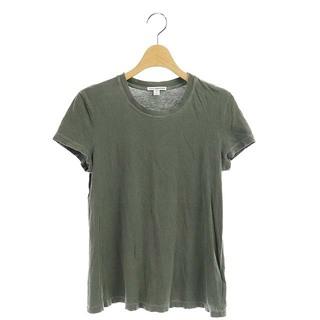 ジェームスパース(JAMES PERSE)のジェームスパース 半袖Tシャツ カットソー クルーネック USED加工 グレー(Tシャツ(半袖/袖なし))