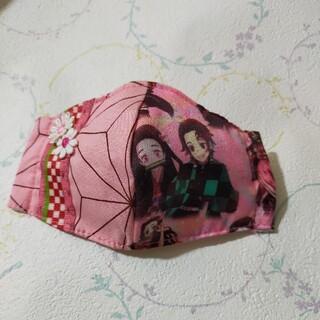 子供用 女の子 ハンドメイドインナーマスク(外出用品)