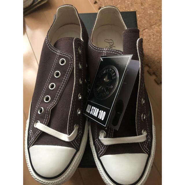 Plage(プラージュ)の新品未使用⭐︎PLAGEプラージュ別注コンバース⭐︎ブラウン レディースの靴/シューズ(スニーカー)の商品写真