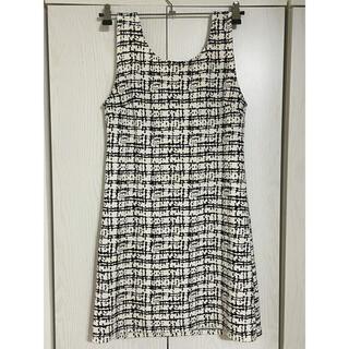 ツイードプリントワンピース 韓国ファッション(ミニワンピース)