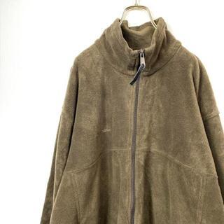 コロンビア(Columbia)のオーバーサイズXLフリースジャケットコロンビア茶色ブラウン古着秋冬男女兼用(ブルゾン)