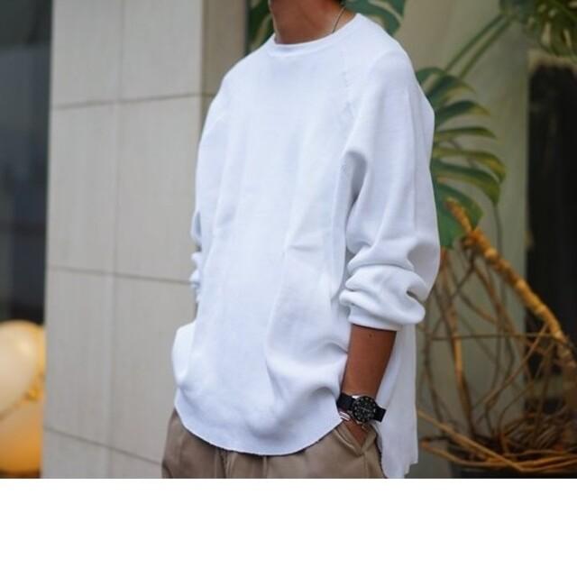 COMOLI(コモリ)のGraphpaper グラフペーパー Waffle L/S Tee メンズのトップス(Tシャツ/カットソー(七分/長袖))の商品写真