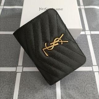 Yves Saint Laurent Beaute -  美品☆サンローラン 二つ折り財布 コインケース 黒
