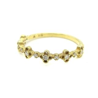 AHKAH - アーカー AHKAH フラワーリング 指輪 K18 ダイヤモンド 8号
