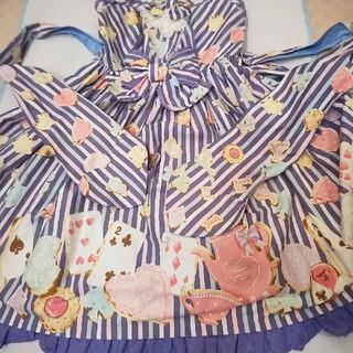 アンジェリックプリティー(Angelic Pretty)のアンジェリックプリティ初版ジャンパースカート、カチューシャ、オーバーニー(ひざ丈ワンピース)
