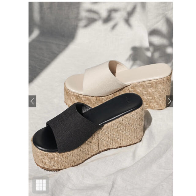 GRL(グレイル)のGRL★厚底スエードジュートサンダル/ホワイト23.5センチ レディースの靴/シューズ(サンダル)の商品写真