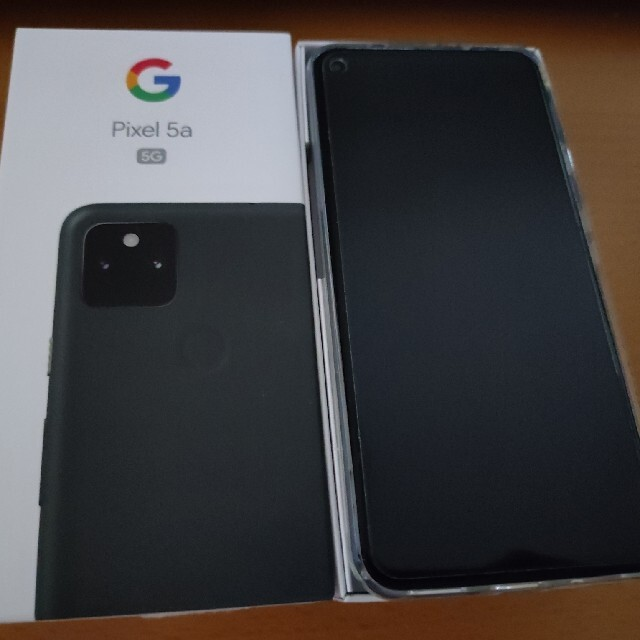 Google Pixel(グーグルピクセル)のPixel 5a 5G SIMロック解除版・オマケ付き スマホ/家電/カメラのスマートフォン/携帯電話(スマートフォン本体)の商品写真