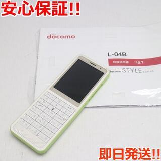 エルジーエレクトロニクス(LG Electronics)の中古 L-04B グリーン (携帯電話本体)
