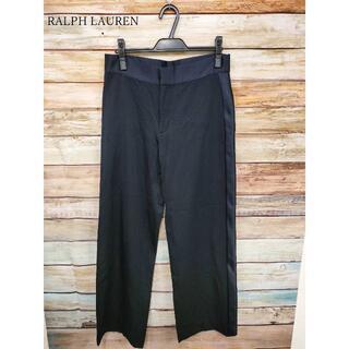 ラルフローレン(Ralph Lauren)のRALPH LAUREN ウール×サテン パンツ ブラック サイズ6(カジュアルパンツ)