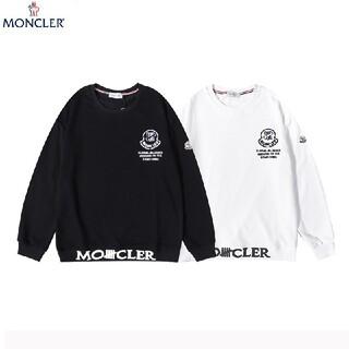 MONCLER - 2枚1000円引 MONCLER#82601 ロゴ付き スウェット  黒白新品