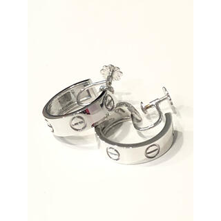 CHANEL - 新品仕上げ済み Cartier ラブイヤリングK18WG