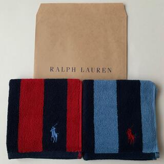ポロラルフローレン(POLO RALPH LAUREN)のラルフローレンタオルハンカチ2枚セット(ハンカチ)