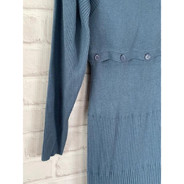 snidel(スナイデル)の20SS スナイデル ニットワンピ ロング 綺麗なブルー レディースのワンピース(ロングワンピース/マキシワンピース)の商品写真