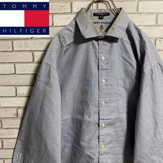 TOMMY HILFIGER - 90s 古着 トミーヒルフィガー  刺繍ロゴ BDシャツ ゆるだぼ
