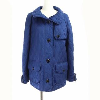 バーバリー(BURBERRY)のバーバリー キルティングジャケット 中綿 アウター 裏地ノバチェック 英国製 青(ブルゾン)