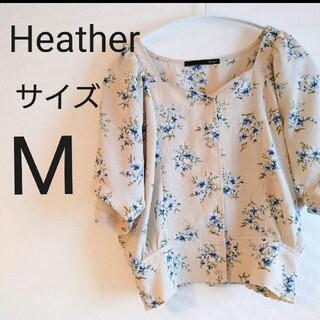 ヘザー(heather)のHeather ヘザー ヴィンテージ花柄ブラウス トップス シャツ 可愛い M(シャツ/ブラウス(半袖/袖なし))