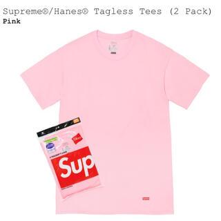 Supreme - Supreme Hanes Tシャツ ピンク1枚