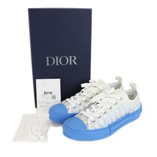 Dior - DIOR B23 ロートップスニーカー オブリーク ラバー 青 #43 4558