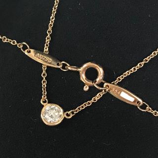Tiffany & Co. - ☆美品☆ 0.21ct ダイヤモンド バイザヤード ネックレス RG シリアル