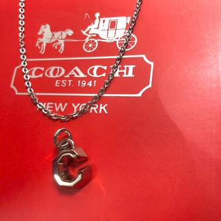 コーチ(COACH)のコーチcoachシルバーメッキ立体Cの字チャーム+ネックレスチェーン(チャーム)