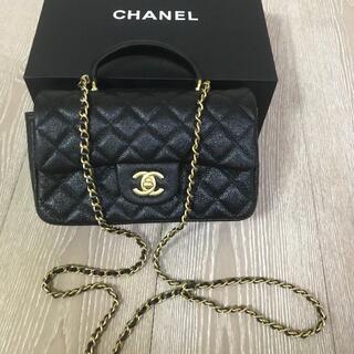 CHANEL - 美品  CHANEL ココハンドル 黒シャンパンゴールド