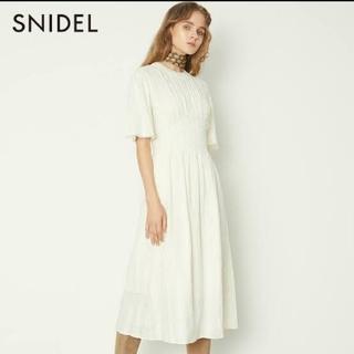 snidel - スナイデル ワンピース コットンレースロングワンピース