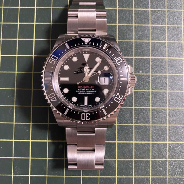 腕時計 自動巻き シードゥエラーtype 赤 3235 メンズの時計(腕時計(アナログ))の商品写真