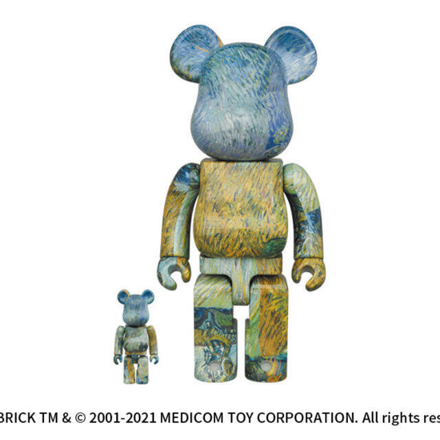 MEDICOM TOY(メディコムトイ)のゴッホ展 BE@RBRICK Van Gogh 100%&400% エンタメ/ホビーのフィギュア(その他)の商品写真