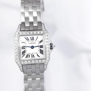 Cartier - 【仕上済】カルティエ サントスドゥモワゼル SM ダイヤ レディース 腕時計