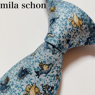 ミラショーン(mila schon)の極美品 ミラ ショーン ネクタイ ハイブランド 動物柄 ビジネス(ネクタイ)