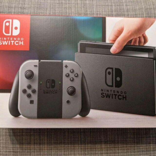 Nintendo Switch JOY-CON グレー 本体  HAC-S-KA エンタメ/ホビーのゲームソフト/ゲーム機本体(家庭用ゲーム機本体)の商品写真