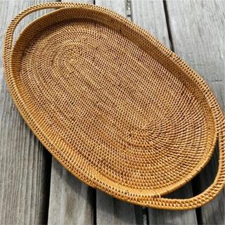バリ島 ランチョントレー 新品未使用 テーブル用品 アタ製 かご おぼん