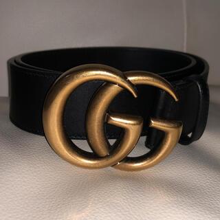 Gucci - グッチ  400593  GGマーモント  ベルト  レザー ブラック