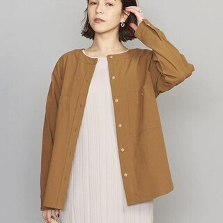 BEAUTY&YOUTH UNITED ARROWS - BY   コットンノーカラーシャツ