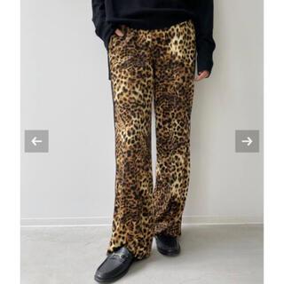 L'Appartement DEUXIEME CLASSE - 新品L'Appartement◆Leopard Side Line Pants