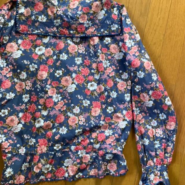 PINK HOUSE(ピンクハウス)の希少 ケティ ketty ピンクハウス 花柄 ブラウス 羽織り 襟 セーラー  レディースのトップス(シャツ/ブラウス(長袖/七分))の商品写真
