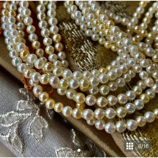 VictorianBox Ivory & Gold Pearl Necklace