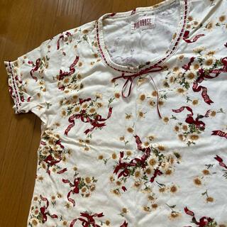 ピンクハウス(PINK HOUSE)の美品 ピンクハウス マーガレット リボン Tシャツ トップス インゲボルグ(Tシャツ(半袖/袖なし))