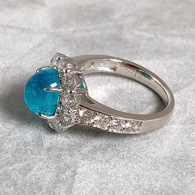 PT900 パライバトルマリン 2.54 ダイヤモンド 1.75 リング 指輪 レディースのアクセサリー(リング(指輪))の商品写真