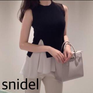 snidel - 新品 新品 スナイデル サステナブルニットセットチュニック ブラック