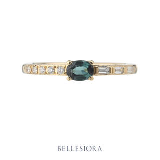 agete - BELLESIORA♡グリーントルマリン&ダイヤモンド♡K18リング♡ベルシオラ