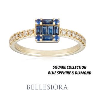 agete - BELLESIORA♡ブルーサファイア&ダイヤモンド♡K18リング♡ベルシオラ