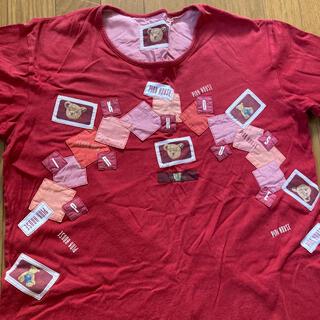 ピンクハウス(PINK HOUSE)のピンクハウス くま テディベア Tシャツ トップス L ワッペン(Tシャツ(半袖/袖なし))