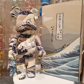 BE@RBRICK 葛飾北斎「神奈川沖浪裏」 400% 25周年 ベアブリック(その他)