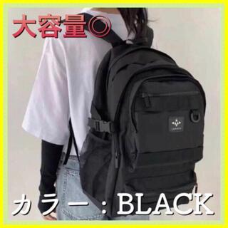 ユニセックス 韓国 リュック ブラック 学生 通学 大容量 バックパック