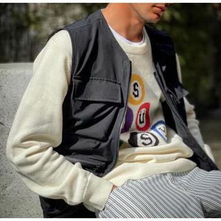 STUSSY - stussy billiard sweater 21ssステューシービリヤードm
