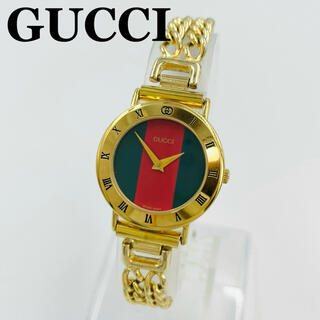 Gucci - ✨一点限り✨GUCCI グッチ シェリーライン クォーツ 腕時計 ゴールド