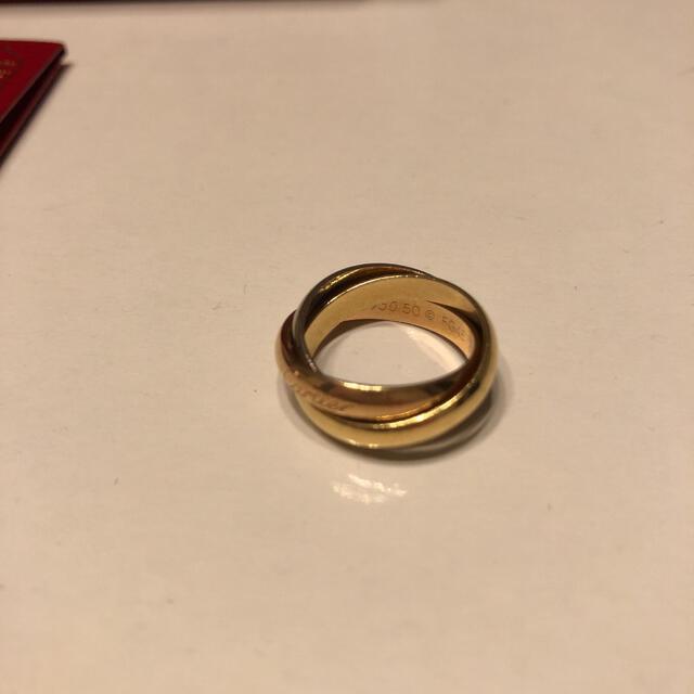 Cartier(カルティエ)のCARTIER カルティエ トリニティ3連リングK18ゴールド#50 レディースのアクセサリー(リング(指輪))の商品写真